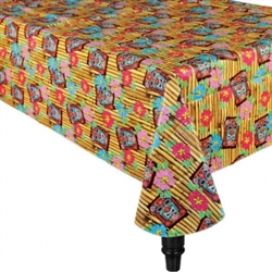 Tiki Oblong Table Cover | Luau Party Supplies