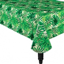 Island Palms Oblong Table Cover | Luau Party Supplies