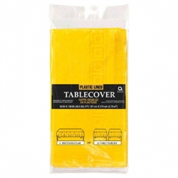 "Yellow Sunshine 3-Ply 54"" x 108"" Table Cover 