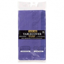 "New Purple 3-Ply 54"" x 108"" Table Cover 