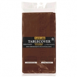 Chocolate Brown Paper Table Cover - 6ct. | Party Supplies