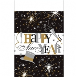 Elegant Celebration Table Cover | New Year's Eve Decorations