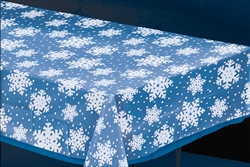 Clear Snowflake Table Cover | Party Supplies