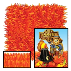 Golden-Yellow, Orange & Red Fringed Tissue Mats