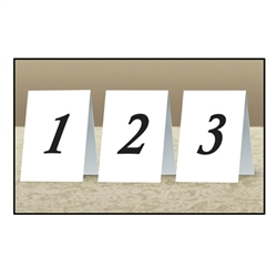 Numbered Table Cards 1-12