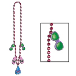 Beads with Flip Flop Medallions