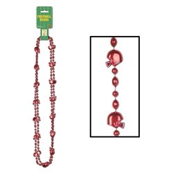 Red Football Beads