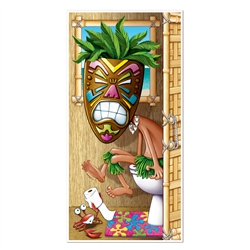 Tiki Man Restroom Door Cover
