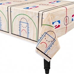 Spalding Basketball Plastic Table Cover | Party Supplies