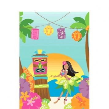 In The Shade Plastic Table Cover  sc 1 st  Vickiu0027s Party Pro & In The Shade Plastic Table Cover | Luau Tableware | Luau Decorations