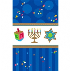 "Hanukkah Celebrations 54"" x 102"" Plastic Table Cover 