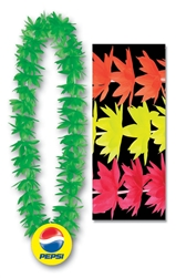 "44"" Lotus Leis with Custom Imprinted Plastic Medallion"