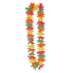 Silk 'N Petals Neon Lotus Lei | Party Supplies