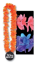 "40"" Tropical Island Leis with Custom Imprinted Paper Medallion"