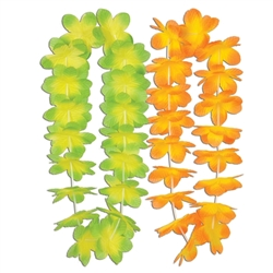 Silk 'N Petals Kiwi Mango Leis | Party Supplies
