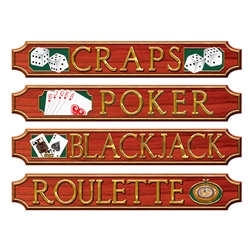 Casino Sign Wall Plaques