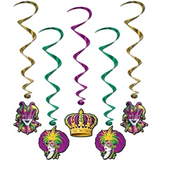Green, Gold and Purple Decorations for Sale