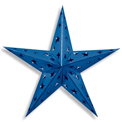 Blue Dimensional Foil Star