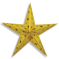 Gold Dimensional Foil Star