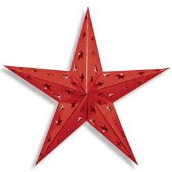 Red Dimensional Foil Star