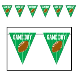 Game Day Football Giant Pennant Banner