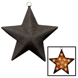 Black and Gold Light-Up Sparkle Star