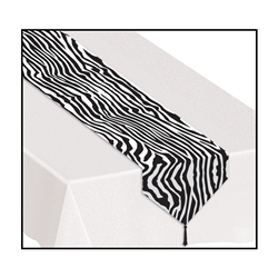 Printed Zebra Print Table Runner | Party Supplies