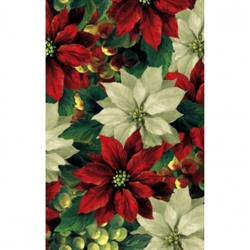 Regal Poinsettia Plastic Table Covers | Party Supplies