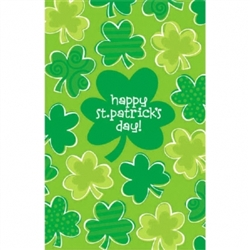 Playful Shamrocks Plastic Table Covers | Party supplies