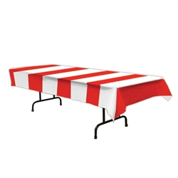 Red & White Stripes Tablecover | Party Supplies
