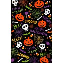 Spooktacular Plastic Table Cover | Party Supplies