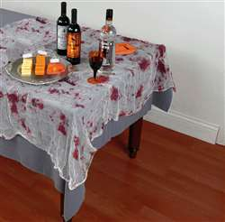 Bloody Gauze Table Cover | Party Supplies