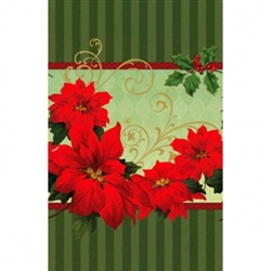 Vintage Poinsettia Plastic Table Cover | Party Supplies