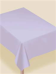 Lavender Flannel-Backed Vinyl Table Cover | Party Supplies