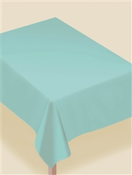 Robin's-egg Blue Flannel-Backed Vinyl Table Cover | Party Supplies
