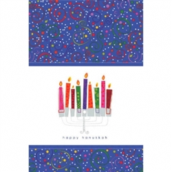 "Playful Menorah 54"" x 102"" Paper Table Covers 