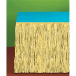 Natural Grass Table Skirts | Luau Party Supplies