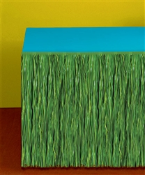 Green Colored Grass Table Skirts | Luau Party Supplies