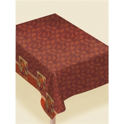 Harvest Still Life Flannel Backed Vinyl Table Cover | Party Supplies