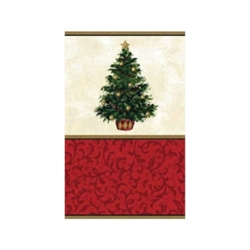 Classic Christmas Tree Paper Table Cover | Party Supplies