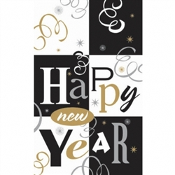 Block Party Plastic Table Cover | New Year's Party Products