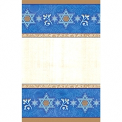 "Judaic Traditions  54"" x 102"" Paper Table Cover 
