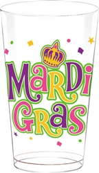 Mardi Gras Plastic Tumblers, 16 oz. | party supplies