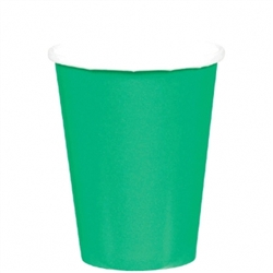 Festive Green 9oz. Paper Cups - 8ct | Party Supplies