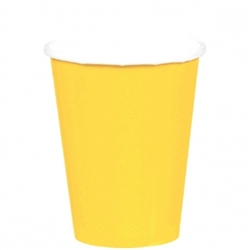 Yellow Sunshine 9oz. Paper Cups - 8ct | | Party Supplies