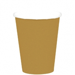 Gold 9 oz. Paper Cup - 8ct. | Party Supplies