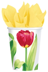 Bright Tulips Cups | Party Supplies