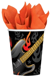 Rock On 9 oz. Cups | Party Supplies