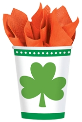 Lucky Shamrocks 9 oz. Cups | St. Patrick's Day Tableware
