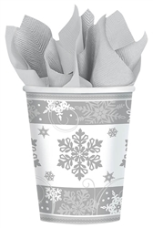 Sparkling Snowflake 9oz. Paper Cups | Party Supplies
